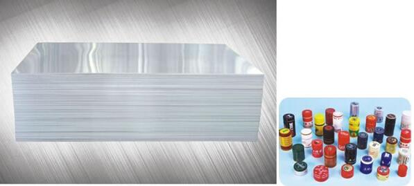 PP cap Aluminum foil, Bottle cap material, Color coated cap material